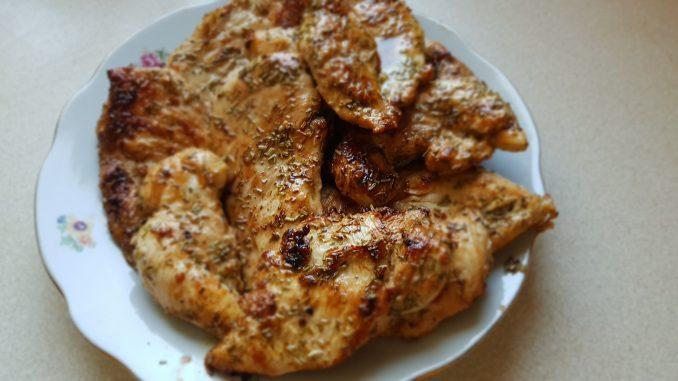 pácolt csirkemell kisütve