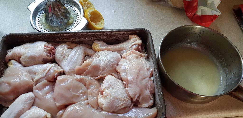 csirke darabolása