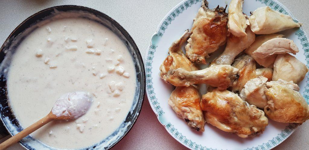 sült csirke mártás