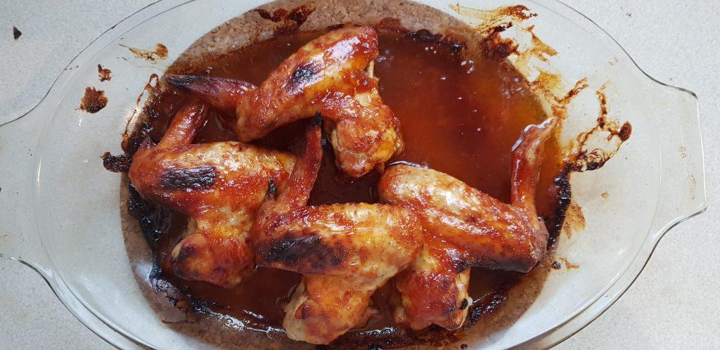 mézes-chilis csirkeszárny