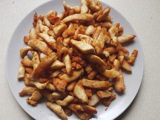 csirkemell csíkok megpirítva