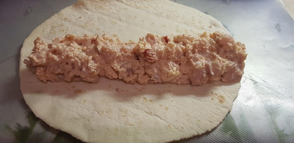 krémsajtos csirke tortilla 3