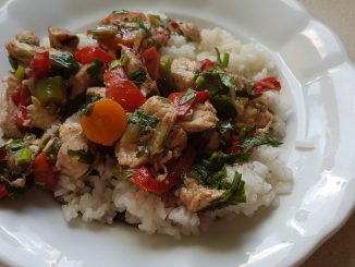csirkemell wok zöldség